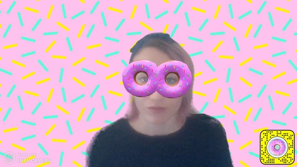 Some of the best Snapchat Lenses on Zoom include a Donut Lens.