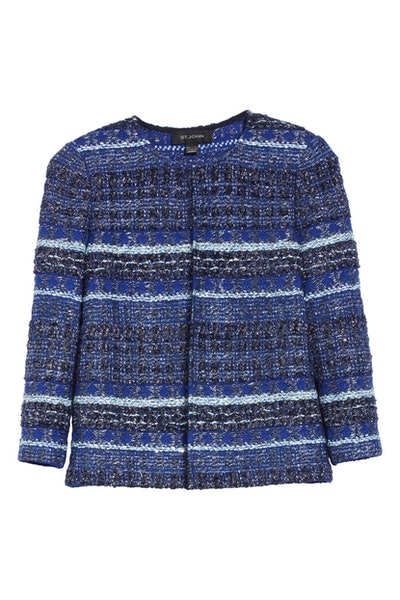 St. John Collection Stripe Tweed Jacket