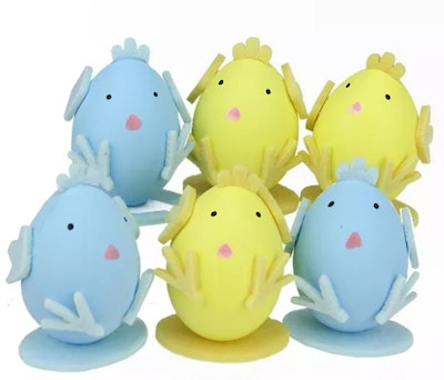 Northlight 6ct Easter Egg Chicken Spring Figure Decorations