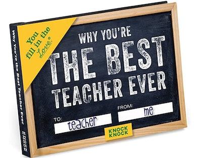 Best Teacher Ever Book