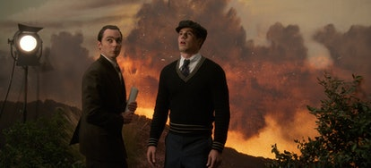 Jim Parsons as Henry Willson & Jake Picking as Rock Hudson in 'Hollywood'