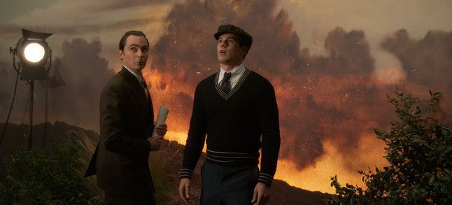 Jim Parsons as Henry Willson & Jake Picking as Rock Hudson in 'Hollywood'
