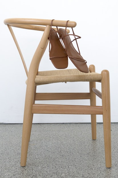 Emerging brand Studio Amelia is making the minimal sandal shoe that is trending for Spring/Summer 2021.