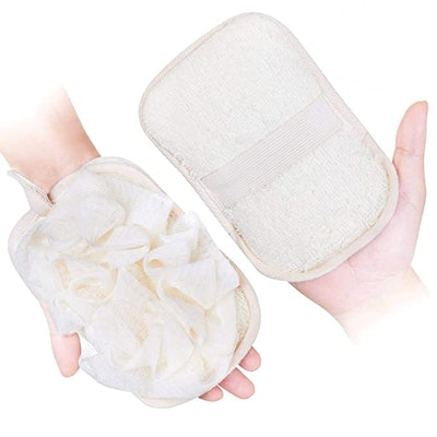 mikimini Loofah Sponge & Exfoliating Pad (2-Pack)