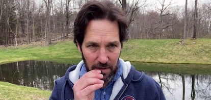 Paul Rudd as Bobby Newport in the 'Parks and Recreation' reunion special.