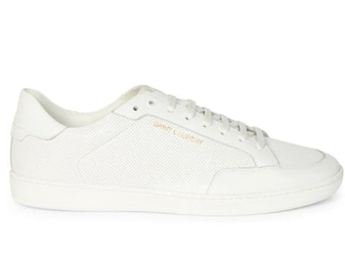 Court Classic Perforated Leather Sneakers