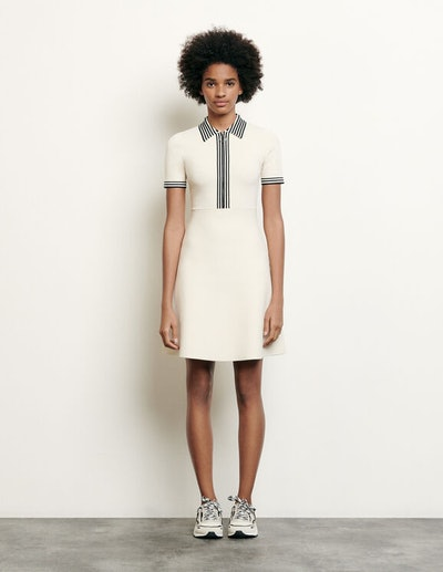 Polo-style Knitted Dress