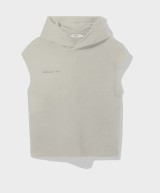 Recycled Cotton Sleeveless Hoodie