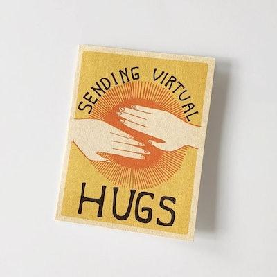 SENDING HUGS PRINTABLE GREETING CARD INSTANT DOWNLOAD