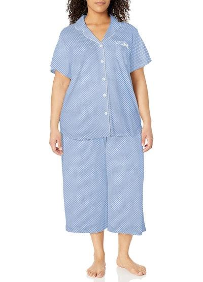 Karen Neuburger Short Sleeve Dot Girlfriend Capri Pajama Set