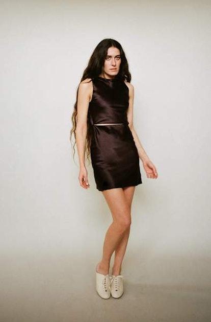 Bordo Mini Dress