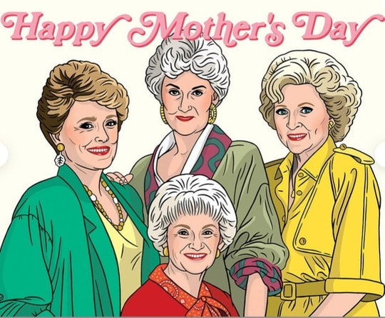 golden girls mother's day card from etsy