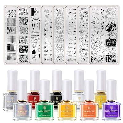 BORN PRETTY Nail Art Stamping Tool Kit