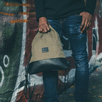 JOHNNY URBAN Canvas Drawstring Backpack