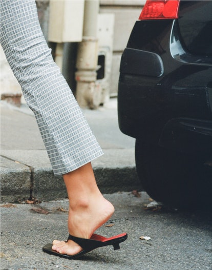 By Far is making the minimal sandal shoe that is trending for Spring/Summer 2021.
