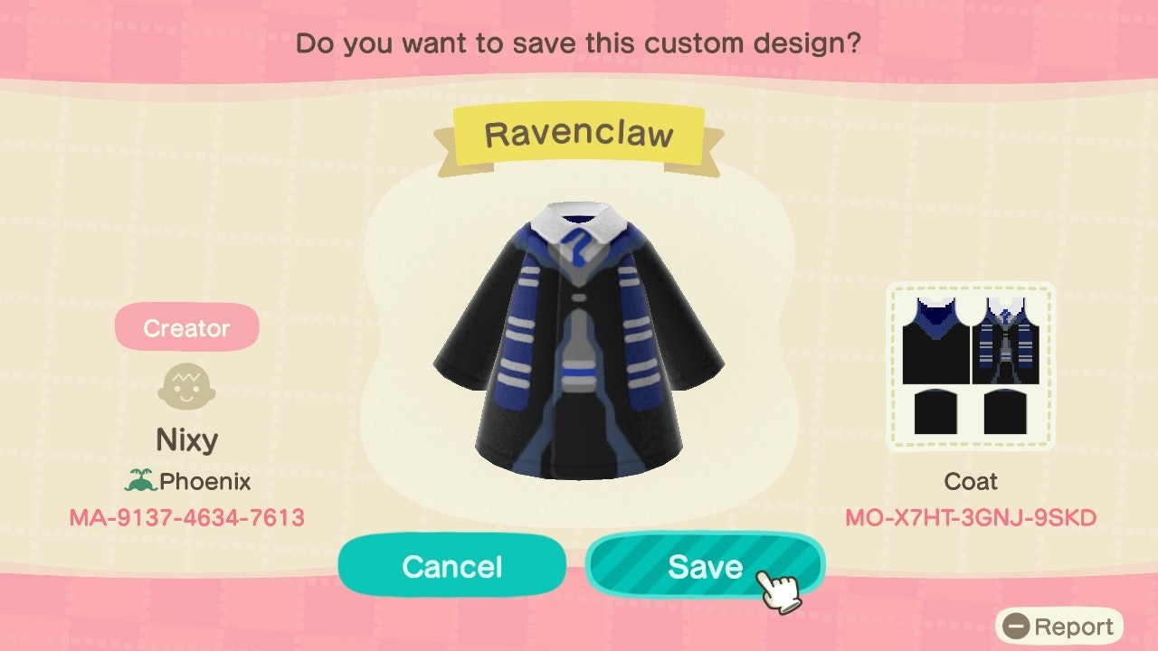 These Harry Potter Animal Crossing Custom Design Codes Are For