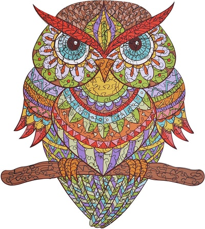 Hartmaze Colorful Owl Wooden Jigsaw Puzzle