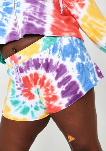 Current Mood Hippie Trippy Delight Tie Dye Shorts