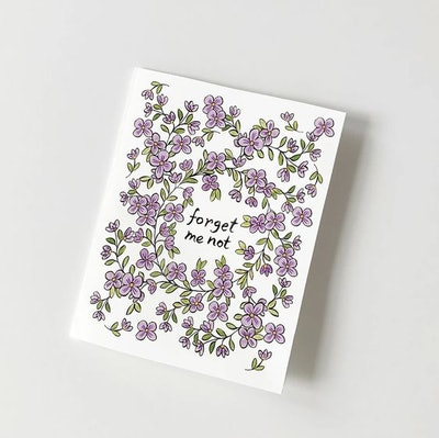 FORGET ME NOT PRINTABLE GREETING CARD INSTANT DOWNLOAD