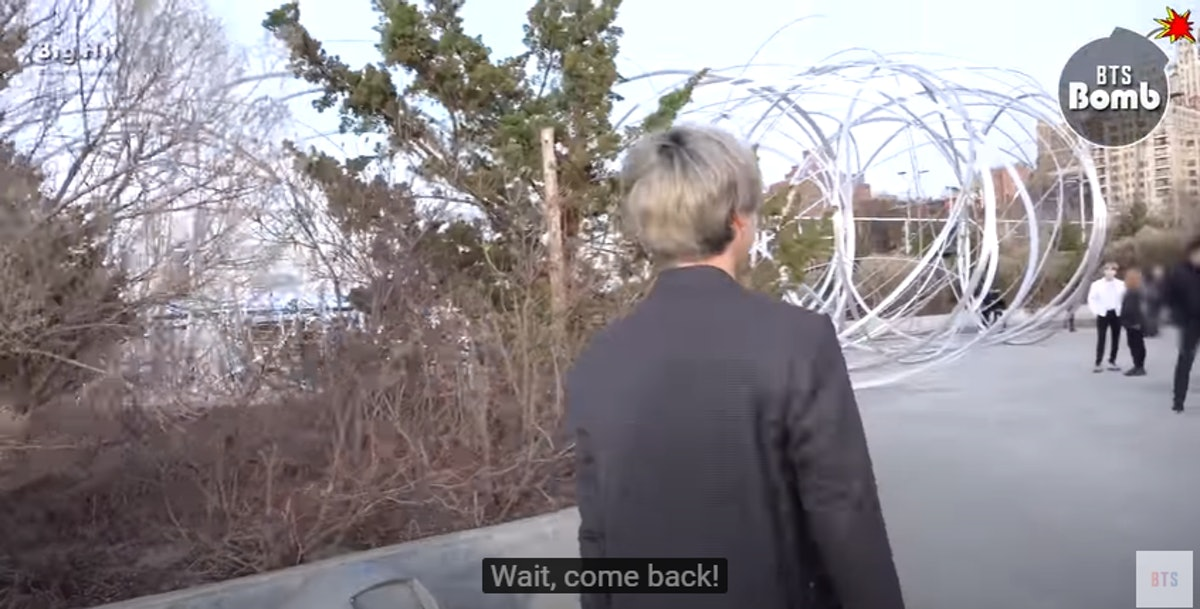 A screenshot from the video showing BTS' Jimin's reaction to J-Hope calling him Jungkook.