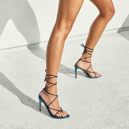 Emerging brand Tamara Mellon is making the minimal shoe that is trending for Spring/Summer 2021.