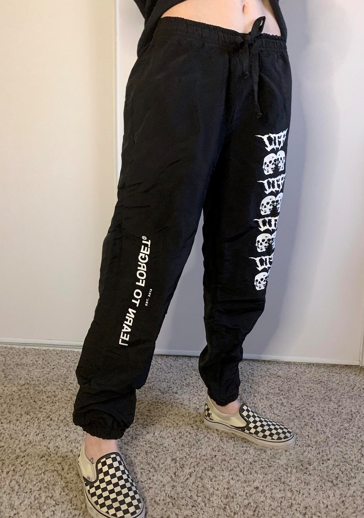 Learn To Forget Love Torn Logo Joggers