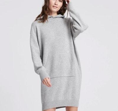 Wool Cashmere Sweatshirt Dress Cement
