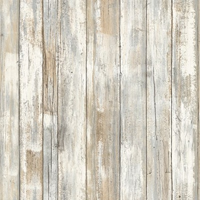 RoomMates Distressed Wood Peel and Stick Wallpaper