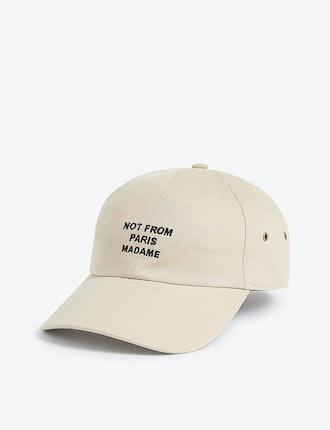 Embroidered slogan baseball cap