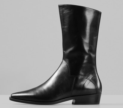 ALISON Black Leather Boots