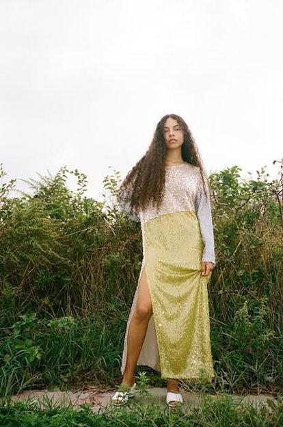 Sequins Patchwork Dress