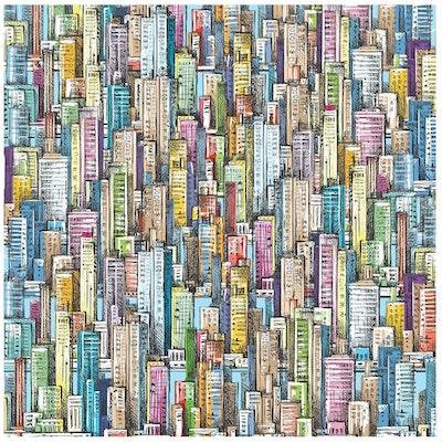 Bgraamiens Puzzle Skyscraper Sea