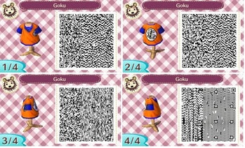 Animal Crossing Designs 18 Qr Codes For Jojo Dbz And Naruto Outfits