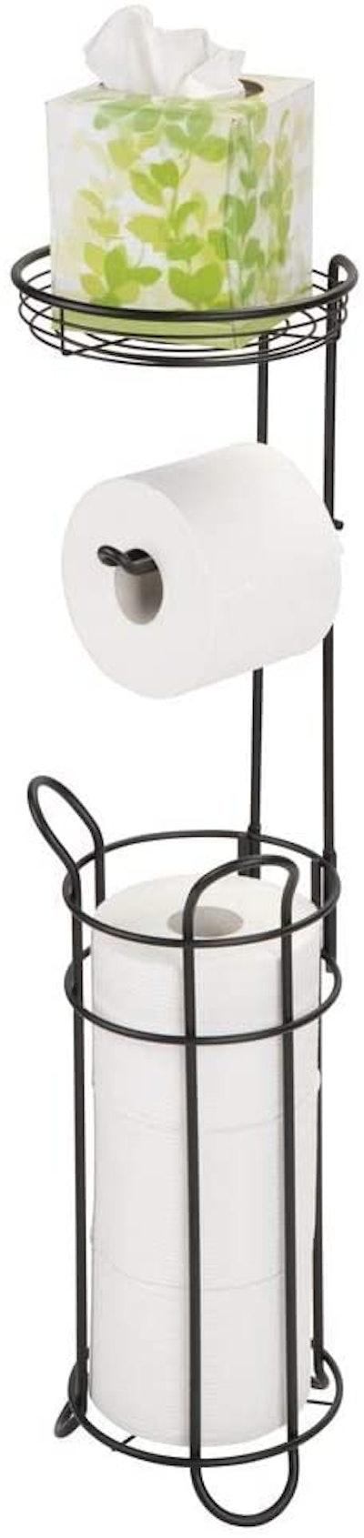 mDesign Free Standing Toilet Paper Holder