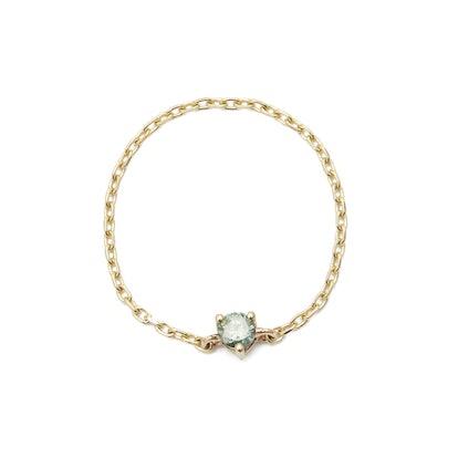 Green Diamond Chain Ring