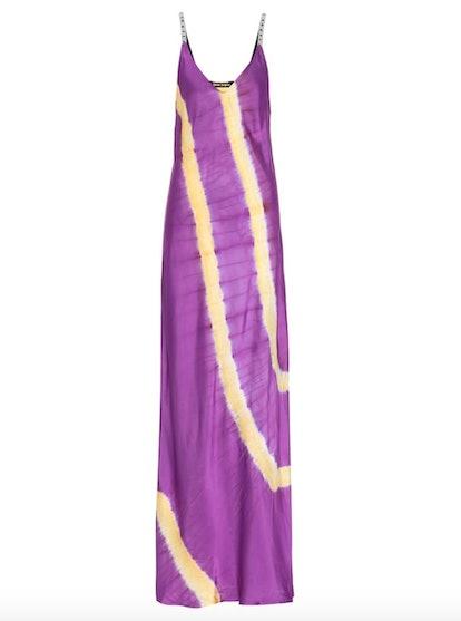 Tie-Dye Satin Slip Maxi Dress