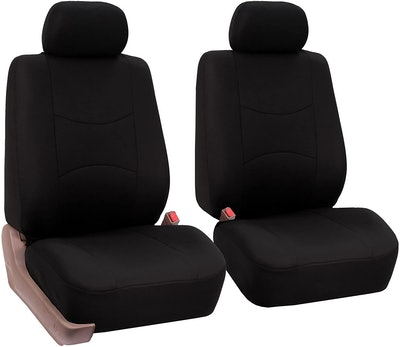 FH Group Universal Fit Flat Cloth Bucket Seat Covers (Set of 2)