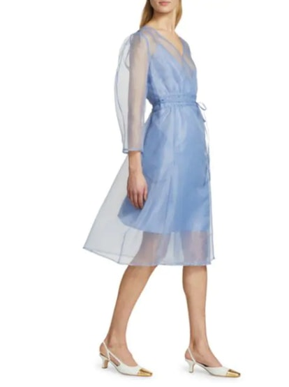 Abylene Organza Wrap Dress