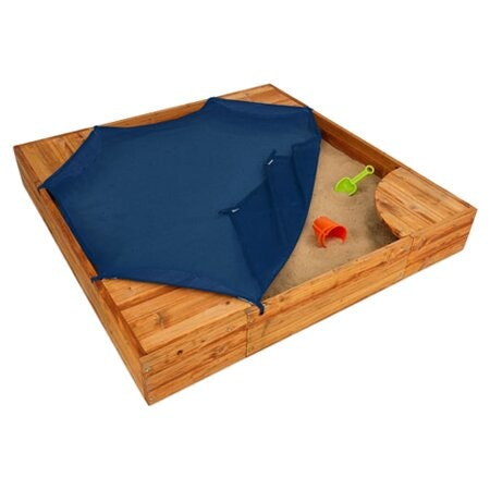 KidKraft Backyard Solid Wood Square Sandbox