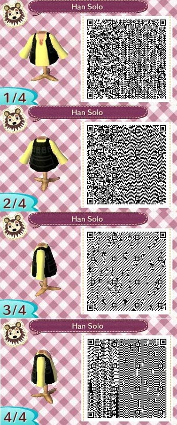 Animal Crossing New Horizons Designs 11 Qr Codes For Star Wars