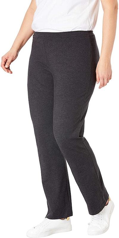 Woman Within Petite Stretch Cotton Yoga Pant