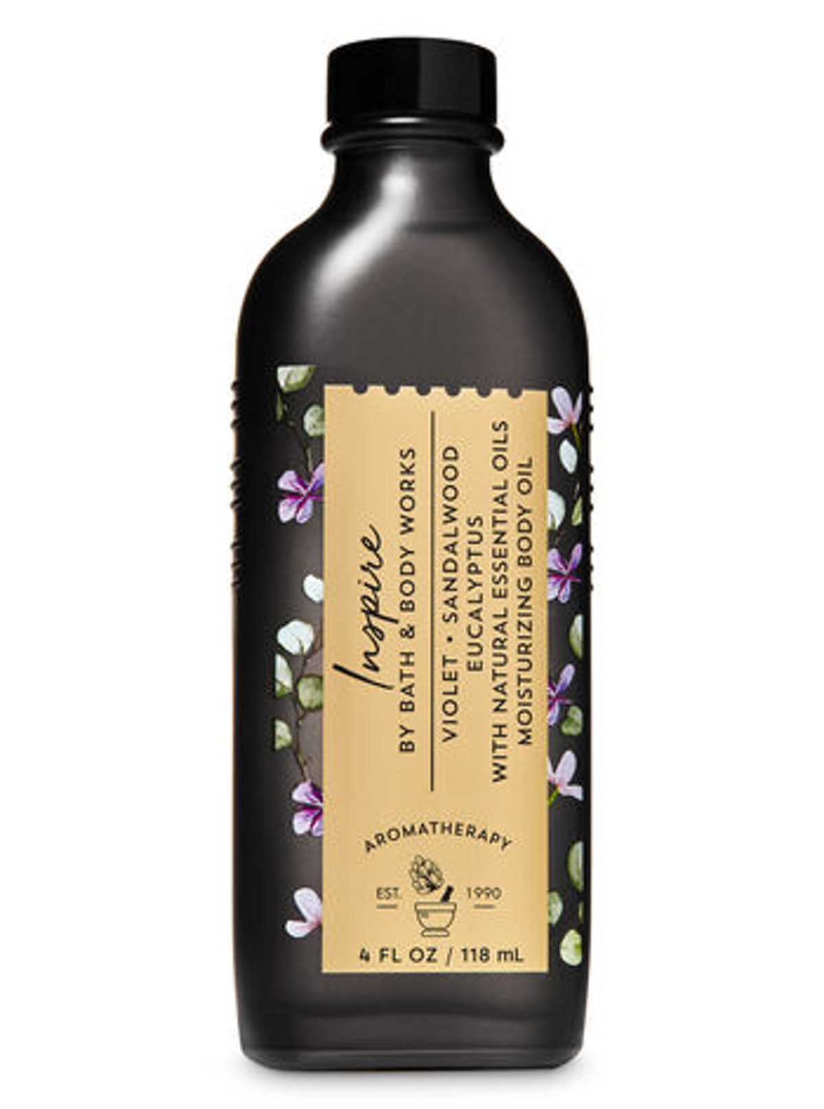 Bath & Body Works Inspire Violet Sandalwood Eucalyptus Moisturizing Body Oil