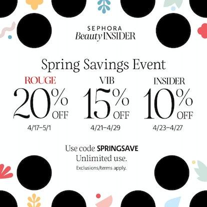 Sephora's VIB sale is back for spring 2020.