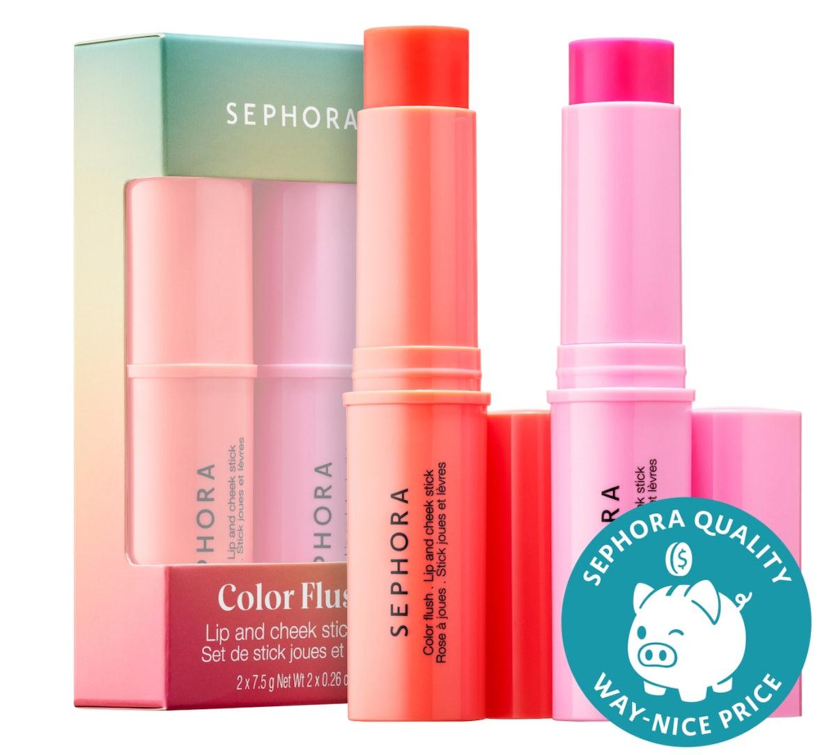 Sephora Collection Color Flush Lip And Cheek Stick Set