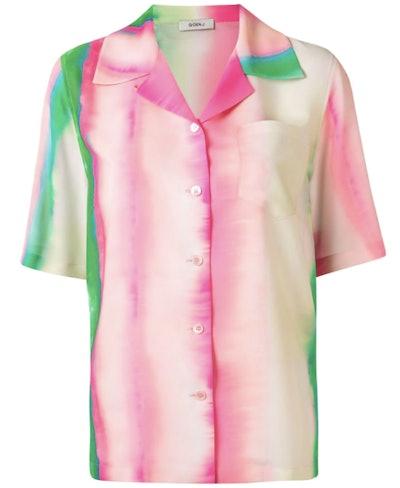 Watercolour Stripe Print Shirt