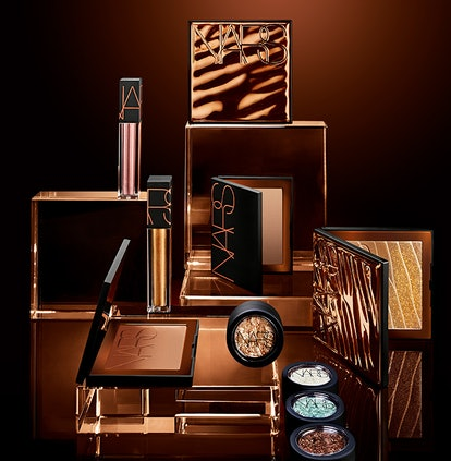 Bronzer, eyeshadow, and lip color from NARS' new Bronzing collection.