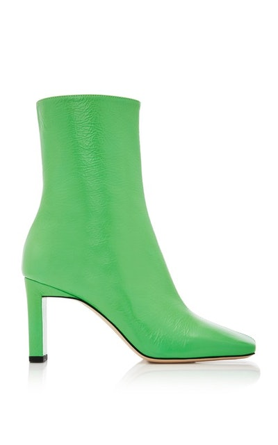 Isa Goat Leather Ankle Boots