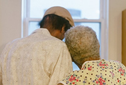 Older couples rely on one another to help weather the storms.