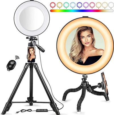 MACTREM 14 Color RGB Ring Light (8-Inches)