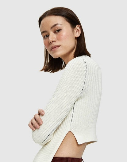 Apron Ribbed Sweater